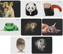 Коврик для мыши Defender Wild Animals 220*180*2мм, ассорти