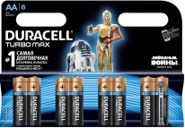 Батарейка Turbo Max Star Wars AA (LR06) 8BL Duracell