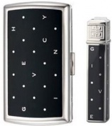 Набор (портсигар+зажигалка) Cigarette Case+lighter, Polka Dots Black/dia-silver Givenchy
