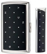 Набор (портсигар+зажигалка) Cigarette Case+lighter Polka Dots Black/dia-silver Givenchy