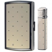 Набор (портсигар+зажигалка) Cigarette Case+lighter, Polka Dots Ivory/dia-silver Givenchy