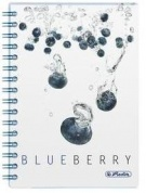 Блокнот FRESH FRUIT BLUEBERRY на спирали Herlitz