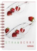 Блокнот FRESH FRUIT STRAWBERRY, на спирали Herlitz