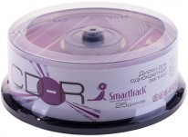 Диск CD-R 700Mb Smart Track 52x Cake Box (25шт)