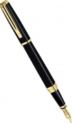 Перьевая ручка Waterman Exception Slim, Black Lacquer GT (Перо M)