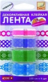 Лента клейкая декоративная ТЕСЬМА, 1м x 4 шт FANCY CREATIVE