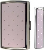Набор (портсигар+зажигалка) Cigarette Case+lighter Polka Dots Pink/dia-silver Givenchy