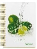 Блокнот FRESH FRUIT LIME на спирали Herlitz