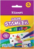 Фломастеры-штампы Color Stamper 08цв., картон. уп., европодвес Luxor