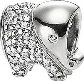 Подвеска Baby elephant Silver symbols Sterlinks
