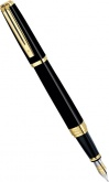 Перьевая ручка Waterman Exception Ideal, Black GT (Перо F)