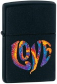 Зажигалка Zippo Colourful Love Black Matte
