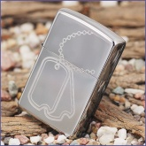 Зажигалка Zippo Dog Tag High Polish Chrome